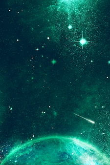 緑の宇宙宇宙背景