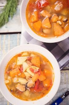 ムール貝のスープ