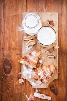 Круассан с молоком