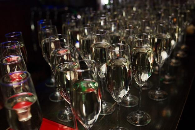 ゲスト用のシャンパンケータリング