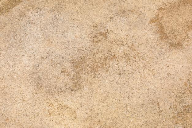 ベージュの砂漠の土、ほこりの多い土地、乾燥した地球および砂の地面テクスチャ背景