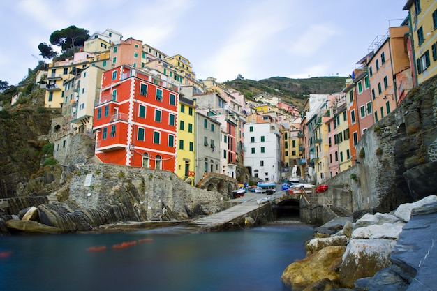 Пейзаж чинкве-терре в италии