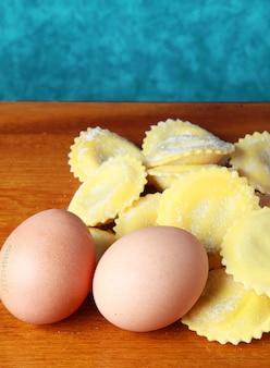 ラビオリの卵と自家製