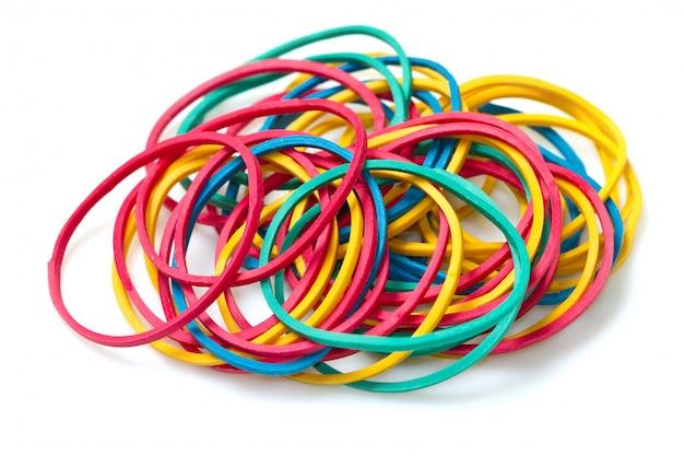 色付きの輪ゴム