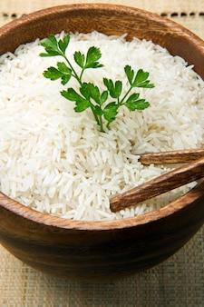 調理していない米