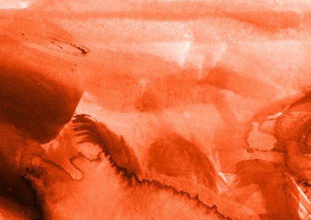 オレンジ色の水彩テクスチャ