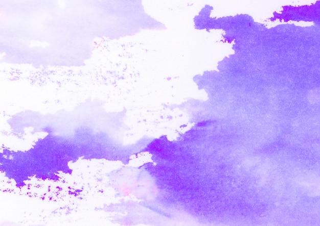 Фиолетовые пятна акварели