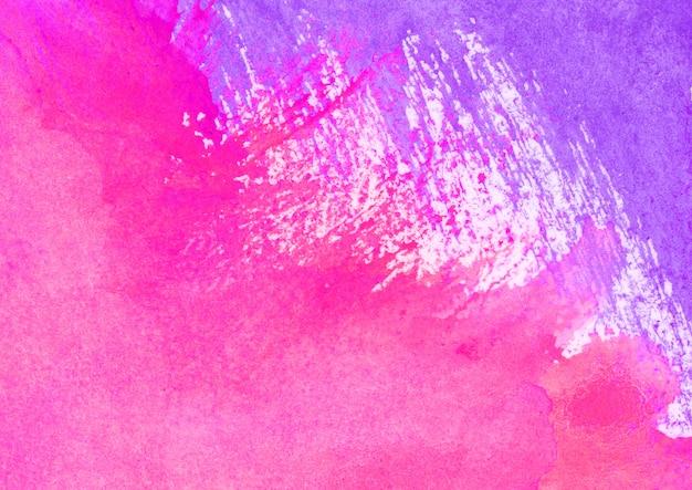 Фиолетовая и розовая акварель