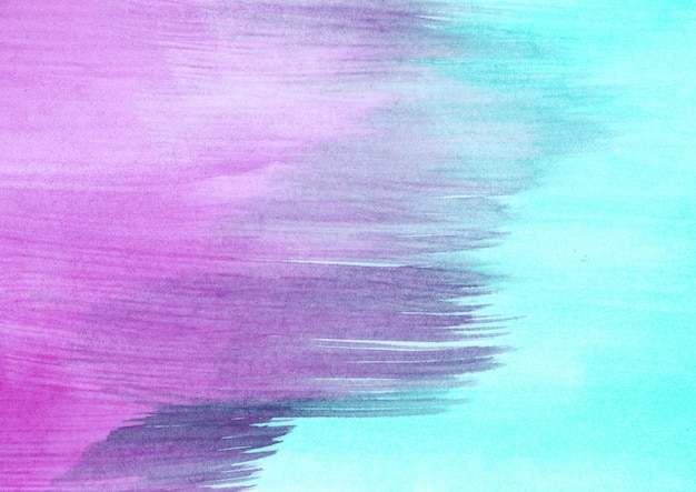 Фиолетовая и бирюзовая акварель