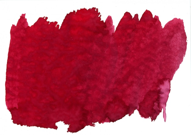 赤い水彩汚れ