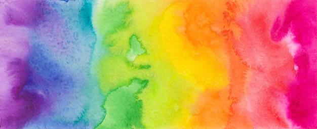 カラフルなスペクトルの水彩画。