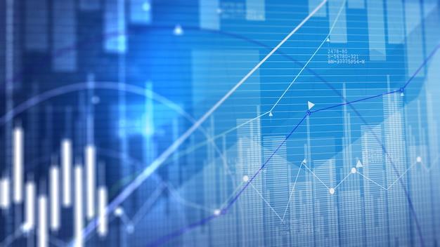 График фондового рынка. бизнес граф фон.
