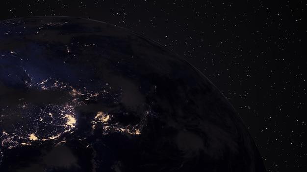 Анимация с использованием спутниковых снимков (наса).