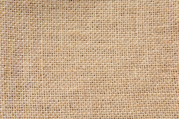 茶色の黄麻布、荒布テクスチャ背景