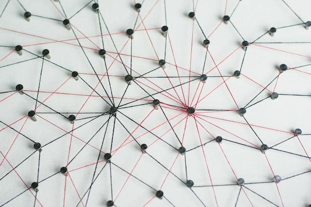 リンクエンティティネットワーク、ネットワーキング、ソーシャルメディア、インターネット通信の概要。