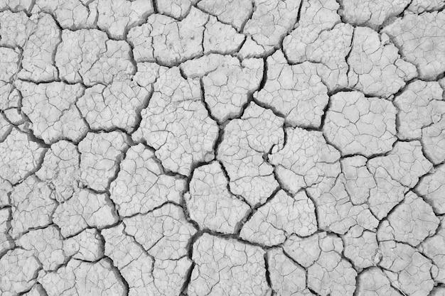 乾季に土をひび割れ、地球規模のワーム効果。