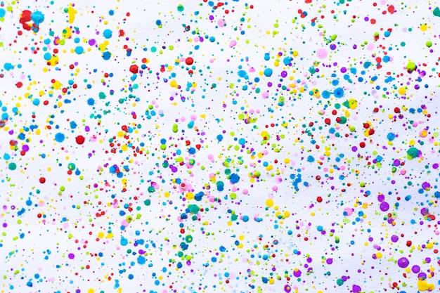 カラフルな水彩画のしぶき。しみ、かすみ。テクスチャ付き。複数の斑点や汚れの水の色の背景
