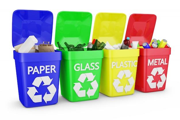 Четыре контейнера для мусора