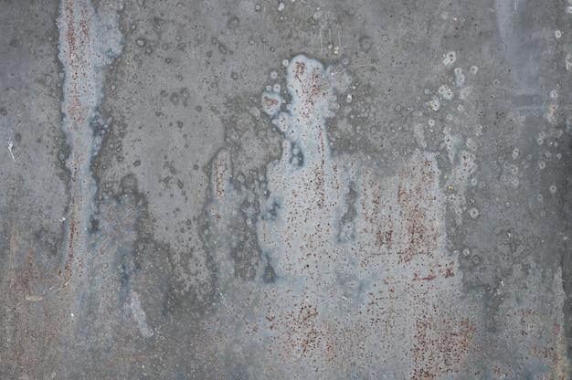 テクスチャと灰色の金属の背景。ペンキを注いだ。金属の質感