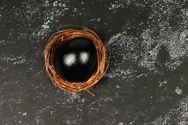 ブラックイースターのコンセプトです。黒い卵。黒人のためのイースター。