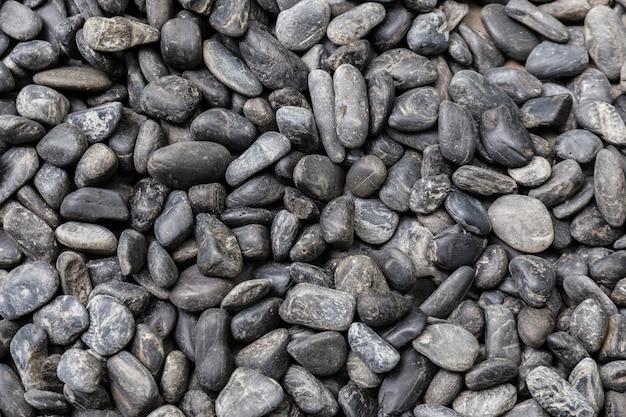 黒と白のストーナーの小石のテクスチャの背景