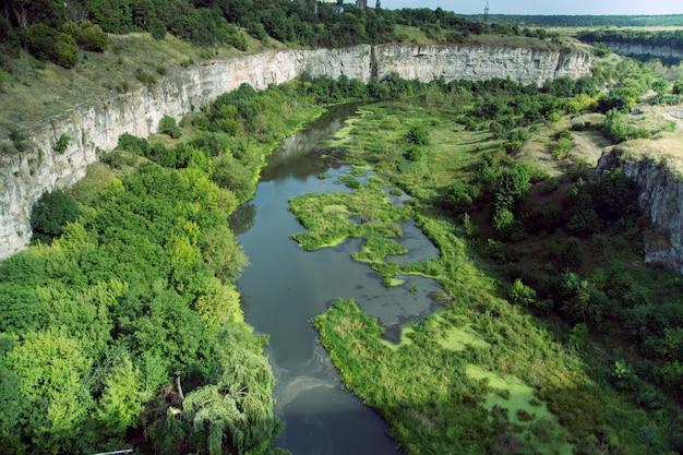 川のトップビュー