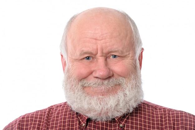 分離された陽気な年配の男性