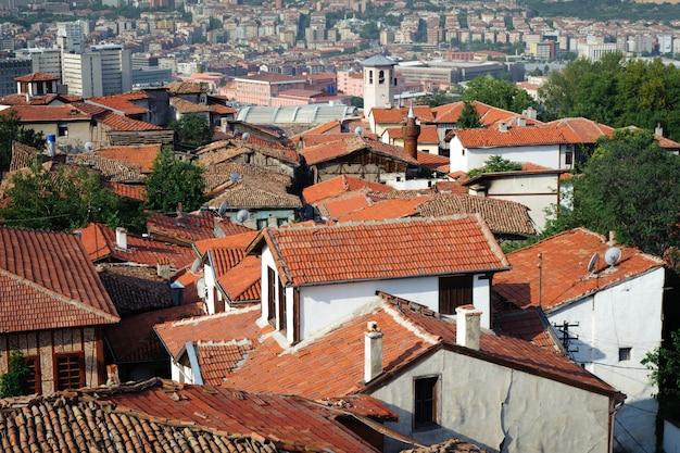 古いアンカラの屋根