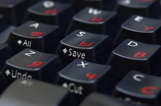 Черная клавиатура крупным планом