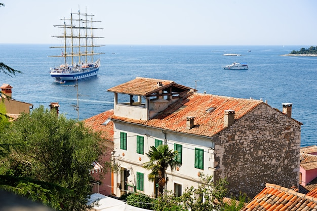 Вид с ровиня, хорватия на море
