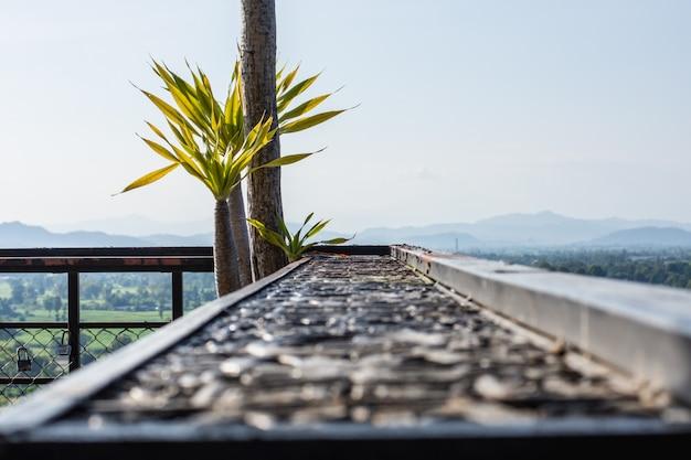 Сидящая терраса полюбуйтесь прекрасным видом на горы