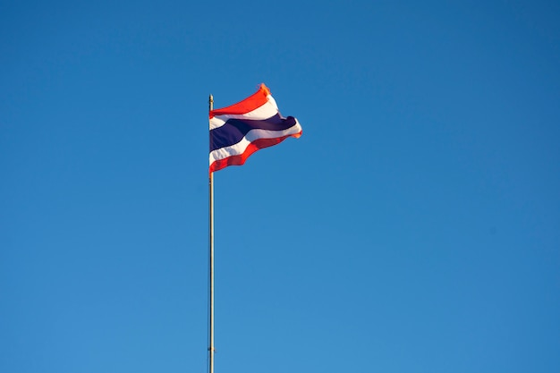 空を背景にタイの国旗