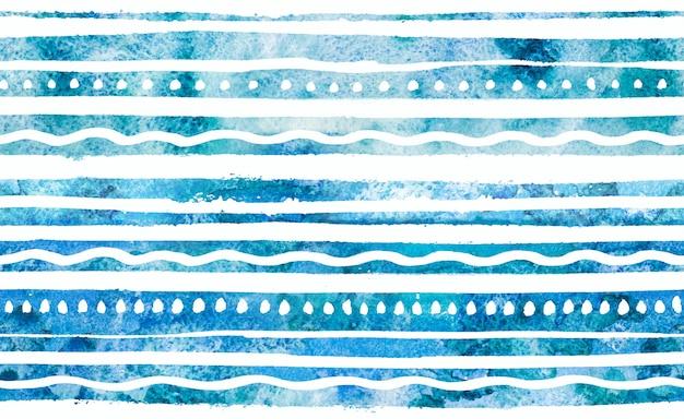 水彩の手描きのシームレスパターン