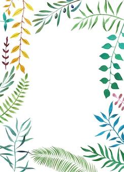 水彩植物トロピカルフレーム