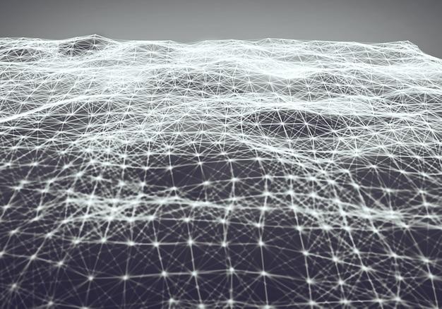 Абстрактный многоугольный свет космический фон с низким поли