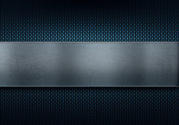 背景の抽象的な現代的な青い炭素繊維テクスチャマテリアルデザイン