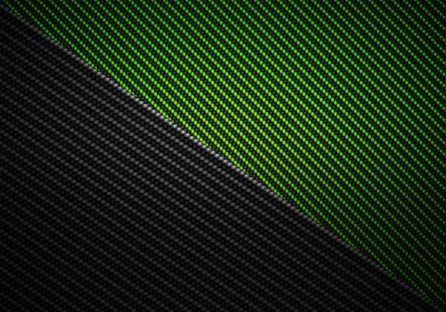 抽象的なグリーンブラックカーボンファイバーの質感のある素材デザイン
