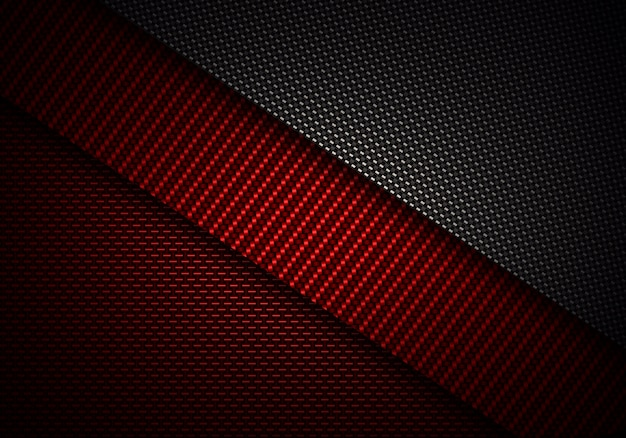 抽象的な赤黒炭素繊維の質感のある素材デザイン