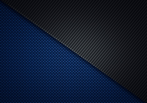 抽象的なモダンなブルーブラックカーボンファイバーの質感のある素材デザイン