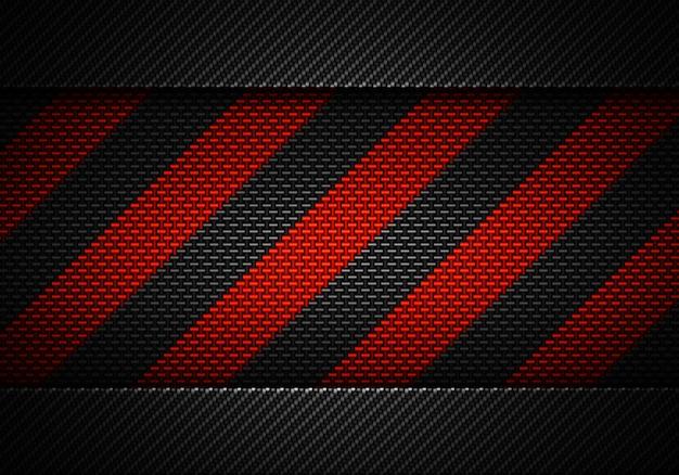 Абстрактный черный углерод текстурированный материал дизайн с предупреждением ленты