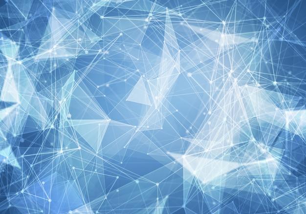 抽象的な多角形の水色の空間の背景。