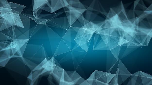 抽象的な多角形空間低ポリ背景。