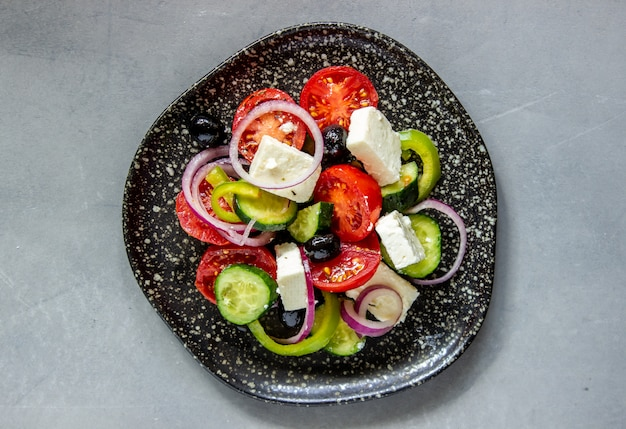 コンクリートのギリシャ風サラダ
