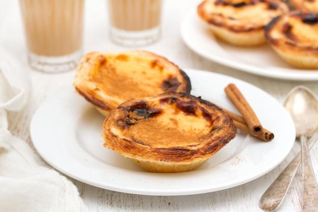 Португальский традиционный сливочный яичный пирог пастель де ната
