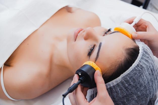 スキンケア、微小電流療法。