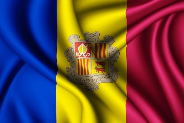 Развевающийся флаг андорры