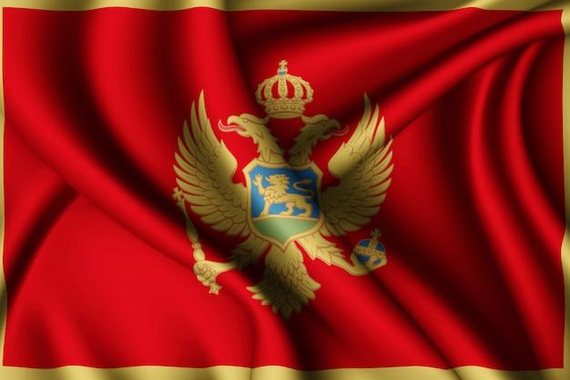 モンテネグロの旗を振っています。