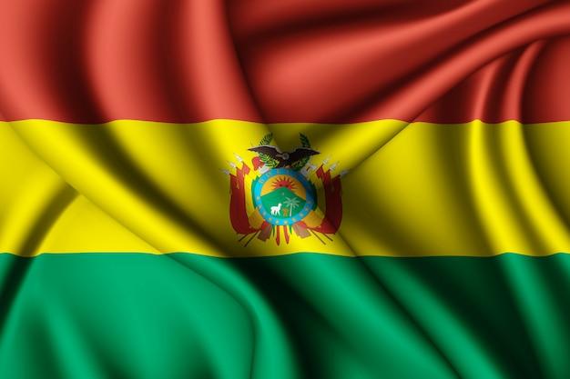 ボリビアのシルク旗を振る
