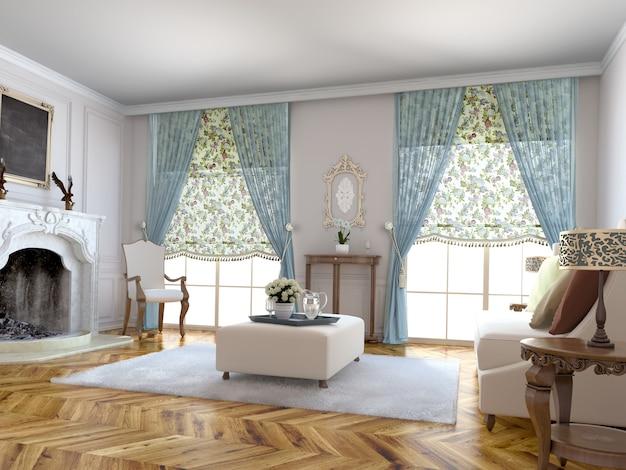 Занавес окна с декоративной