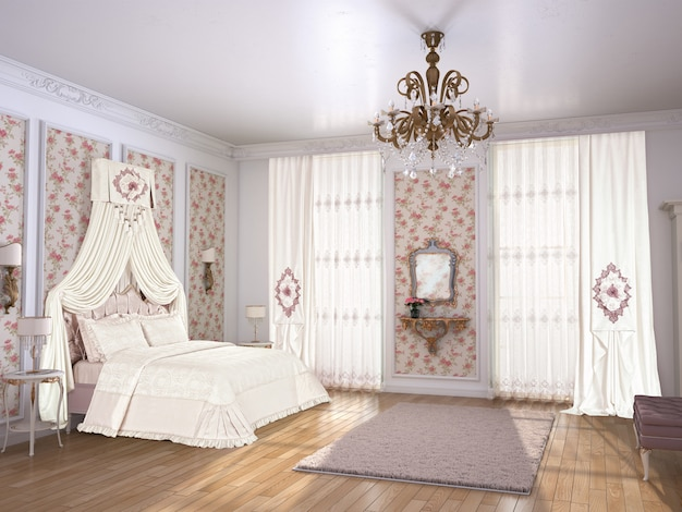 Спальня с отделкой